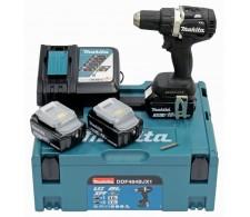 Akumulatorska bušilica 18V sa baterijama 1x3.0ah, 2x5.0ah, brzi punjač i Makpac